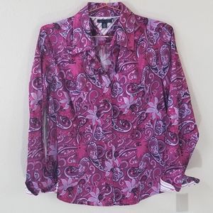 Tommy Hilfiger Paisley Print Blouse Size L